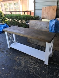 brown wooden table with white wooden frame Shippingport, 15077