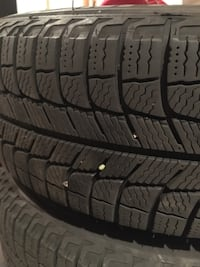 Michelin x ice winter tire set w/rims