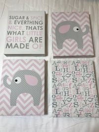 4 Canvas Pictures for Baby's Room Alexandria, 22310