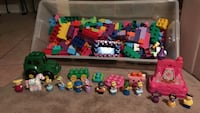 assorted plastic toy collection lot