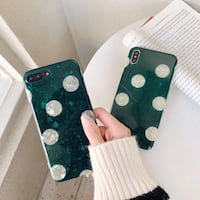 Emerald polka dots iPhone case Winnipeg, R3M 2L5