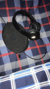 black Beats by Dr. Dre corded headphones with case