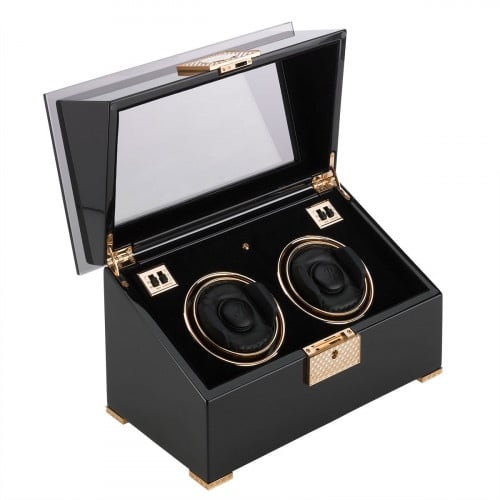 Rapport black rose dual watch winder. Dual. Mint