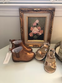 2 pairs of infant/toddler shoes- metallic! Springfield, 22151