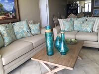 teal and white floral fabric sofa set 917 mi