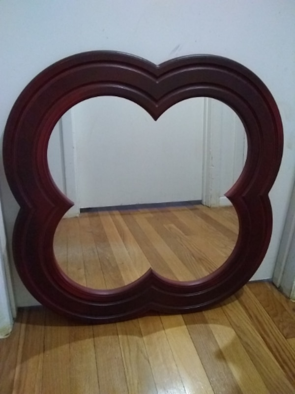 Cherry Wood Frame Wall Mirror