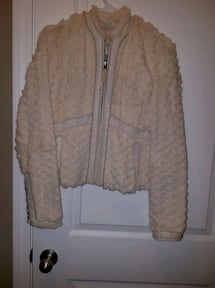 Real faux Fur coat beautiful size small