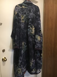black and gray floral long-sleeved dress London, N6H 0A1