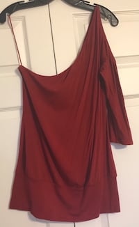 Red One-Shoulder Top