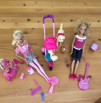 3 Barbies (Vet, regular doll and toddler) with accessories Hamilton, L9C 1K3