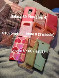 Cellphone cases (Galaxy S9+/S10/Note 8/iPhone6,6S)