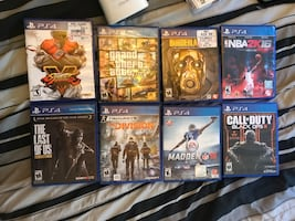Eight assorted ps4 games