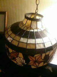 Stained glass style chandelier
