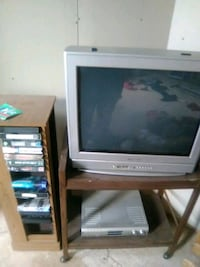 gray CRT TV with stand Washington, 20004