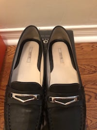 Pair of black leather loafers Mississauga, L5M 5W9