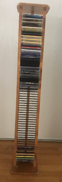 DVD wooden stand with 58 slots  Ottawa