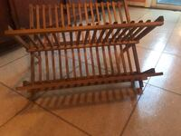 Folding pine dish rack  23 km