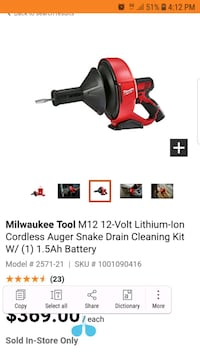 black and red Milwaukee cordless power drill Mississauga
