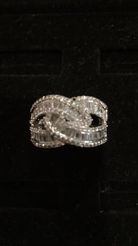 silver-colored diamond ring Dudley, 28333