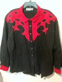 black and red zip-up jacket Houston, 77020