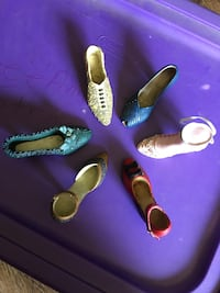 Lot of 6 My Treasure Miniature Shoes. Various colors and designs.