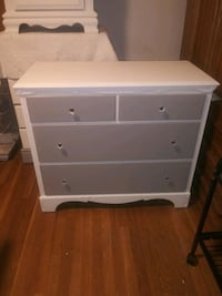 refinished gray n white dresser  Dudley, 01571