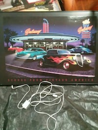 Light up classic car picture Gobles, 49055