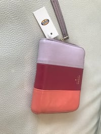 pink and black leather wallet Edmonton, T6L 1M6