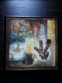 brown wooden framed painting of tree Oshawa, L1H 1J3