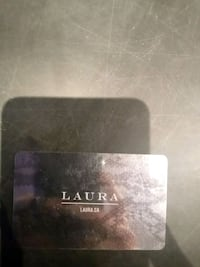 Laura Gift card.