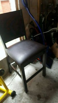 black leather padded brown wooden chair Vaughan, L4J 5Y4
