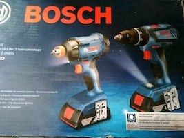 Bosch cordless drill and impact 2 batteries new
