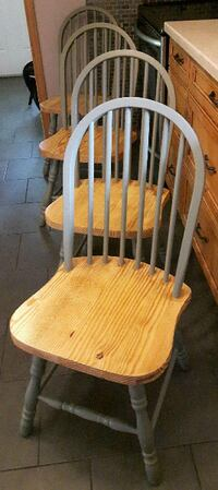 Solid Pine Refinished Chairs Newmarket
