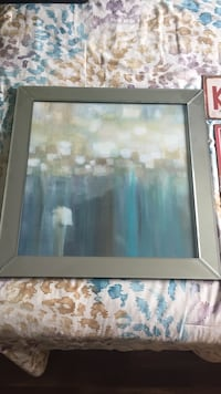 Wall art with mirrored frame, with chip in frame  Newmarket, L3Y