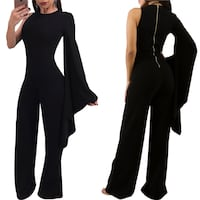 XS XSmall Small Black sexy fashion bell sleeve jumpsuit  Markham, L3P 1R5