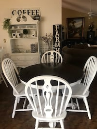 white wooden dining table set Madison, 35758