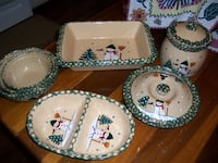 Snowman serving set  Mercersburg