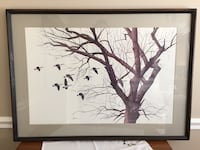 """36"""" x 26"""" Framed print """"On the Wing"""" Dumfries, 22025"""