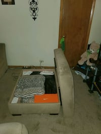 Sectional and loveseat