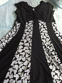 Black and White Butterfly Dress: Size 6 Miami, 33196