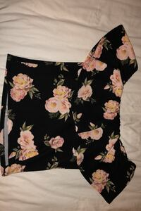 Shirt cute tight ladies flower shirt with frill