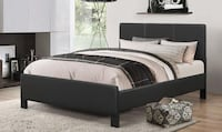 BRAND NEW COMPLETE PLATFORM LEATHER BED WITH SPRING MATTRESS  TORONTO
