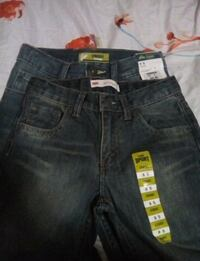 two pairs of blue jeans Los Angeles, 90011