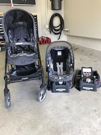 Stroller car seat black and gray travel system Markham, L3S 4C6