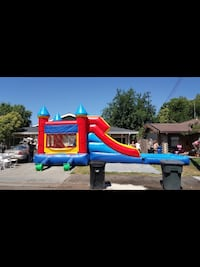 red, blue, and yellow inflatable bouncer screenshot Fairfield, 94534