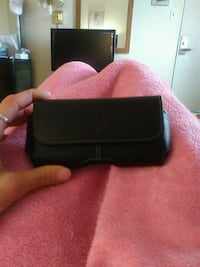 Blackweb leather phone case with belt clip. New.  Kitchener, N2B 3A1