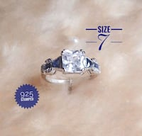Elegant Sapphire Ring. 925 stamped size Colorado Springs, 80918