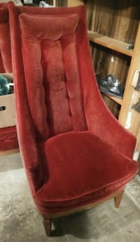 TWO Red suede sofa chairs Surrey, V3S 6A5