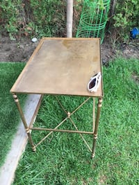 Out or in door brass table