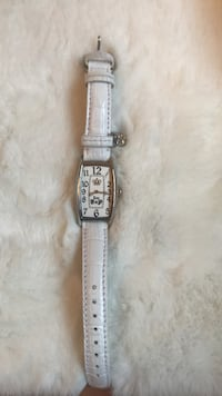square silver analog watch with silver link bracelet Montréal, H1T 3W8